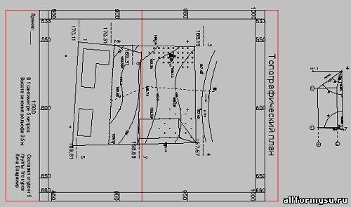 Практика Геодезия Каталог файлов Все для МГСУ Учебный  Топографический план
