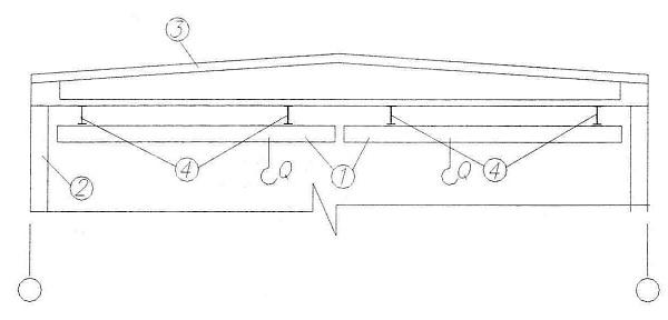 1 - мост подвесного крана,