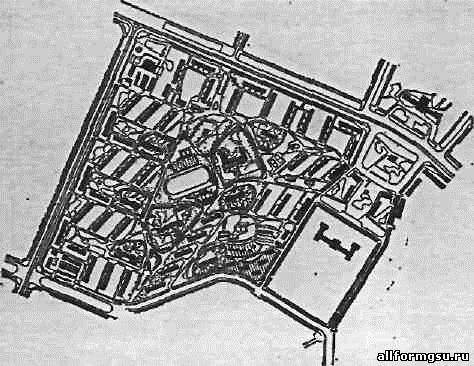 План жилого района в городе