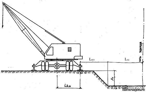 Схема установки стрелового